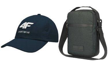 Zestaw 4F czapka z daszkiem + saszetka nerka
