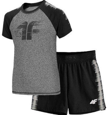Zestaw chłopięcy sportowy 4F koszulka i szorty