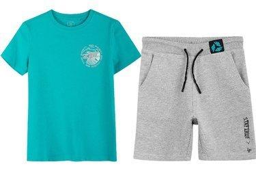 Zestaw sportowy 4F koszulka turkus spodenki