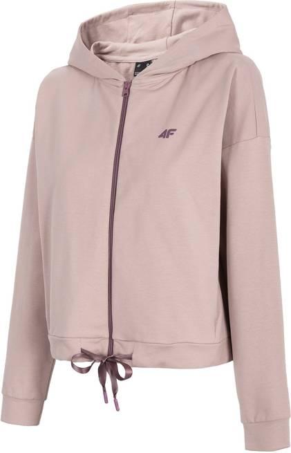 Bluza damska 4F BLD013 różowa z kapturem
