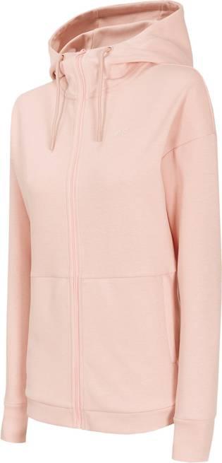 Bluza damska 4F BLD015 jasno różowa z kapturem