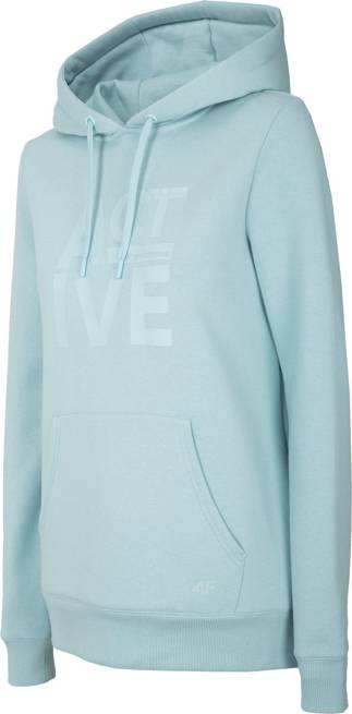 Bluza damska 4F błękitna BLD013 z kapturem