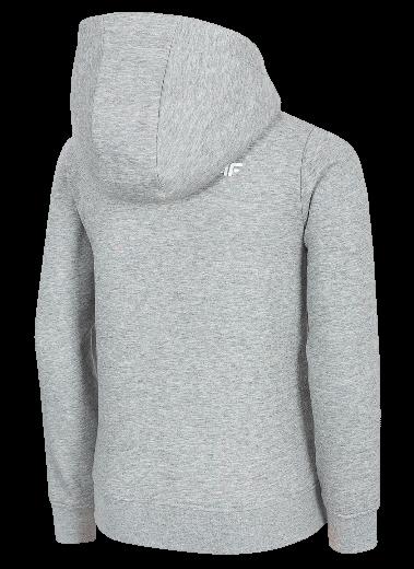 Bluza dziewczęca 4F JBLD001 szary melanż