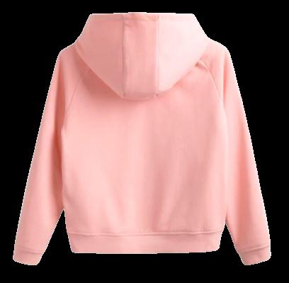 Bluza dziewczęca 4F JBLD002A z kapturem róż