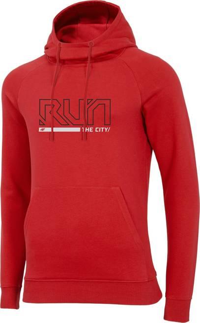 Bluza męska 4F BLM017 z kapturem czerwona