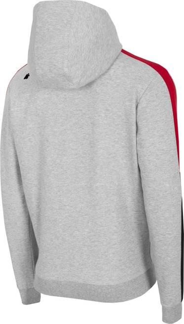 Bluza męska 4F BLM018 na zamek jasno szara