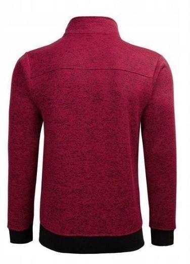 Bluza męska BLM610 rozpinana ciepła czerwona