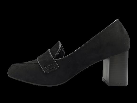 Buty damskie na słupku 4117-1 czarne
