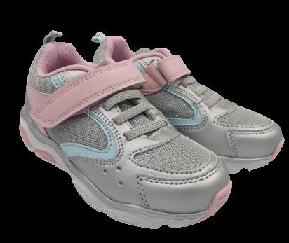Buty dziecięce srebrne sportowe świecące