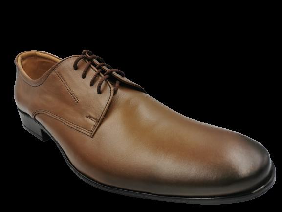 Buty elegancie skórzane męskie 730 brązowe 45