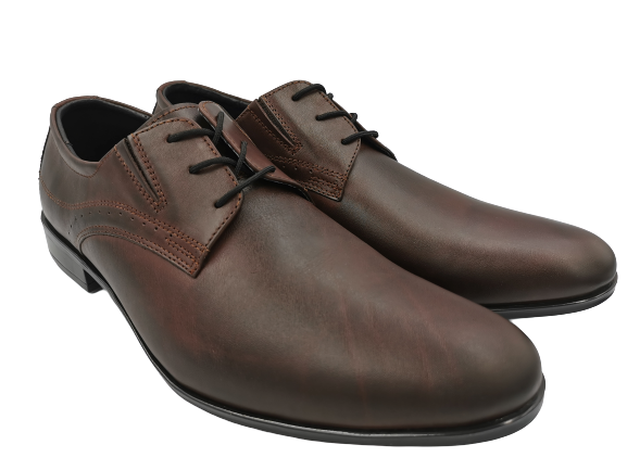 Buty eleganckie skórzane 0-80 ciemny brąz