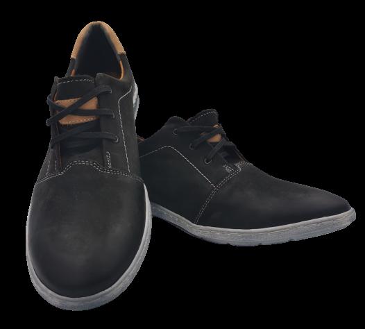 Buty eleganckie skórzane wizytowe 290 czarne 45
