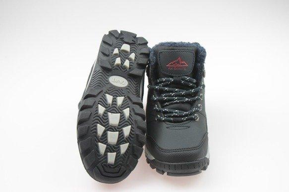 Buty zimowe chłopięce trapery ciemny granat 31