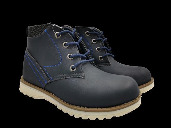 Buty zimowe dziecięce 5XC-7198-W trapery granat
