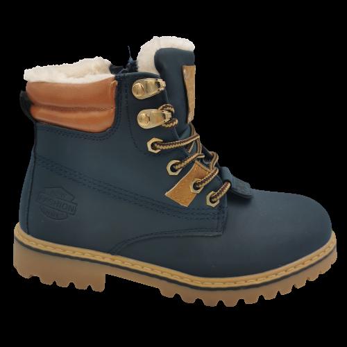 Buty zimowe dziecięce  C20163-3  trapery granat