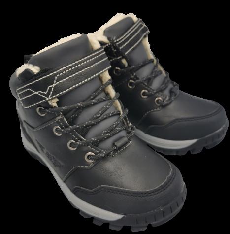 Buty zimowe dziecięce C7381-2 trapery czarne