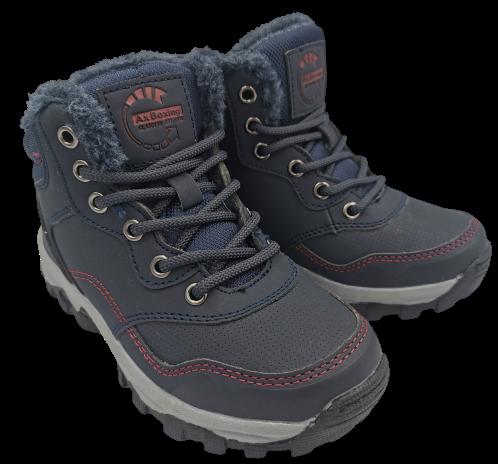 Buty zimowe dziecięce  CP7396-2 trapery granat