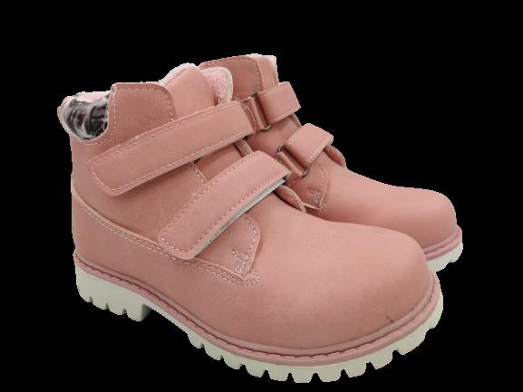 Buty zimowe dziecięce LT04M trapery różowe 29