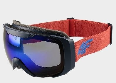 Gogle narciarskie chłopięce 4F czerwone