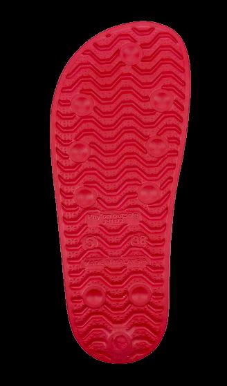 Klapki damskie 4F KLD001 czerwone