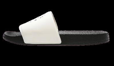 Klapki damskie 4F KLD002 biało czarne