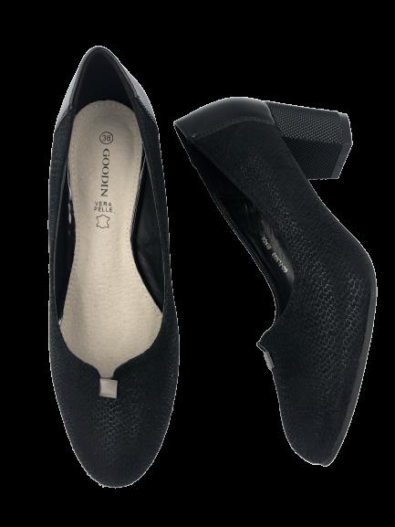 Klasyczne czarne szpilki damskie GD-FL302B