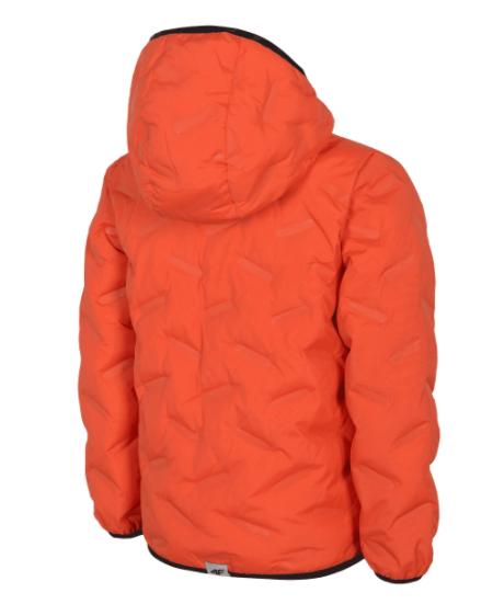 Kurtka puchowa dziecięca 4F JKUMP205 pomarańcz