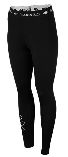 Legginsy fitness damskie 4F SPDF001 CZARNE