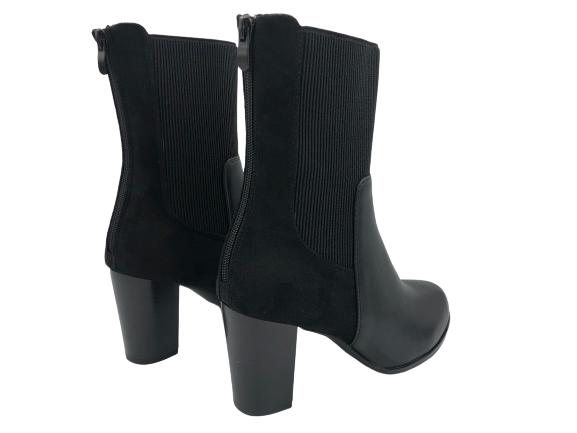 Obuwie damskie botki eleganckie czarne