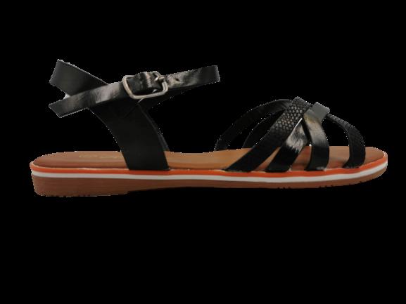 Sandały damskie eleganckie czarne 99-62