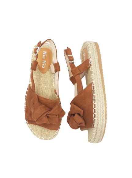 Sandały damskie obuwie brązowe 3197