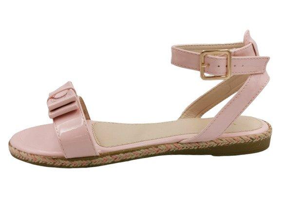 Sandały damskie obuwie różowe 6128-20