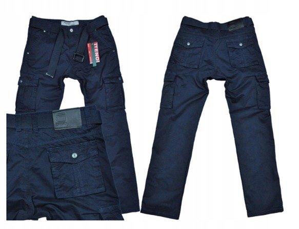 Spodnie bojówki myśliwskie granat 8813 8
