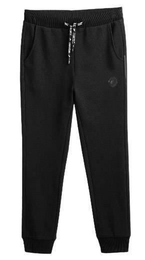 Spodnie chłopięce 4F JSPMD007 dresowe czarne