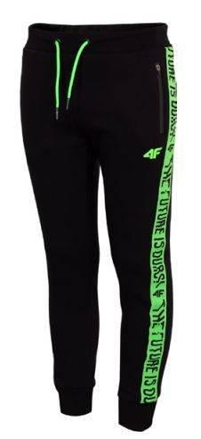 Spodnie chłopięce 4F SPMD002A dresowe czarne