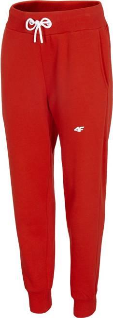 Spodnie damskie 4F SPDD001 dresowe czerwone
