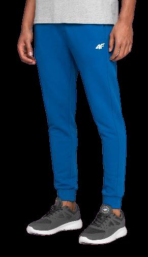 Spodnie męskie dresowe 4F SPMD001 niebieskie