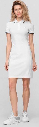 Sukienka damska 4F SUDD080 Polo biała