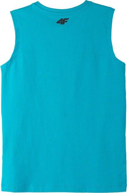 T-shirt bezrękawnik 4F JTSM011 niebieski
