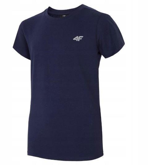 T-shirt chłopięcy 4F JTS023D GRANATOWY