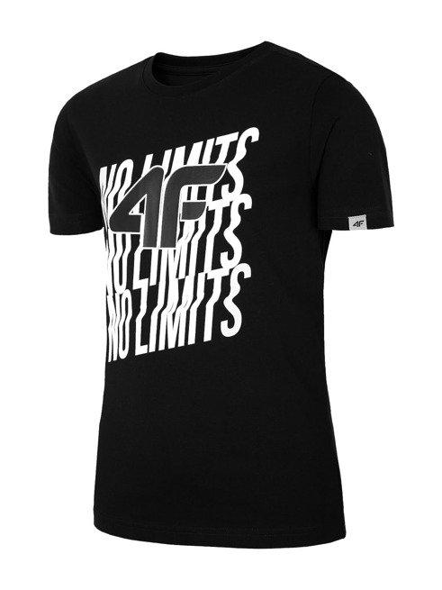 T-shirt chłopięcy 4F JTSM011C GŁĘBOKA CZERŃ