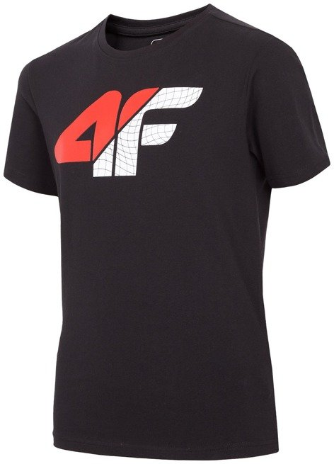 T-shirt chłopięcy 4F JTSM022A CZARNY