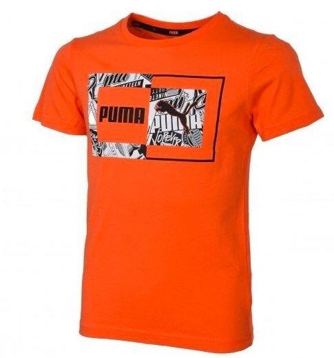 T-shirt chłopięcy PUMA 581268 28 pomarańczowy