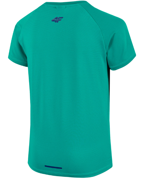 T-shirt chłopięcy sportowy 4F JTSM005 zielony