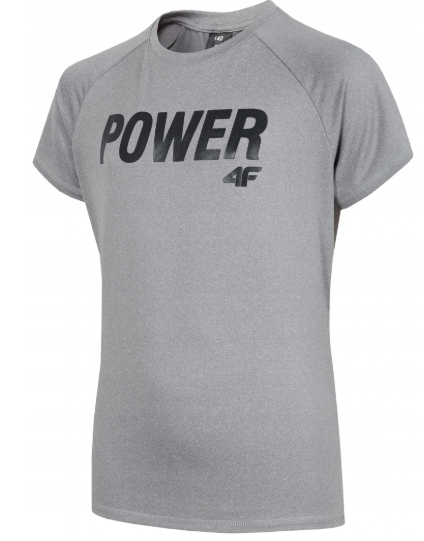 T-shirt chłopięcy sportowy 4F JTSM006 szary