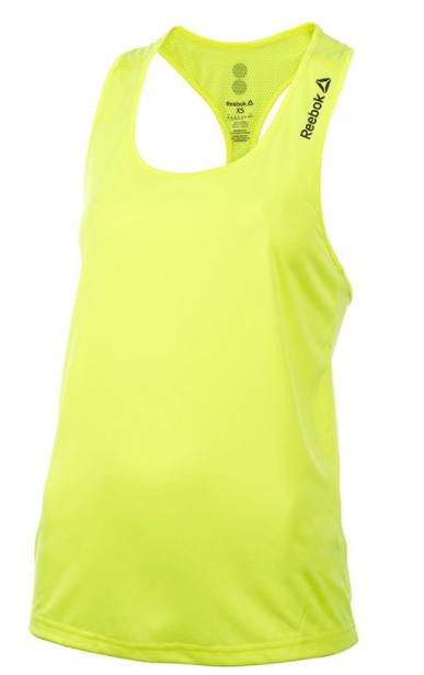 T-shirt damska REEBOK AX939 bokserka żółta L