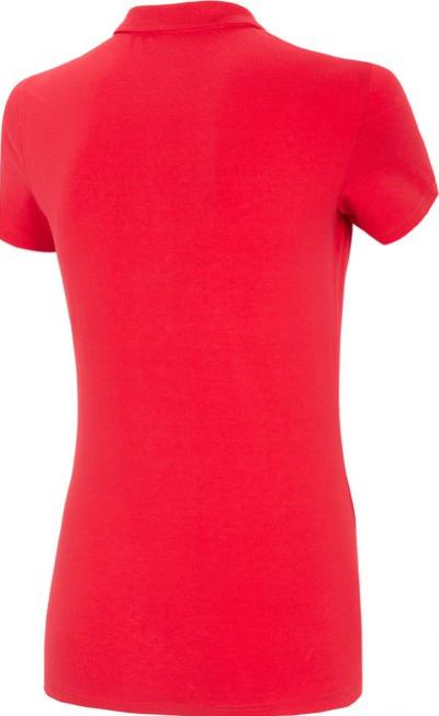T-shirt damski 4F TSD008 koszulka polo czerwona