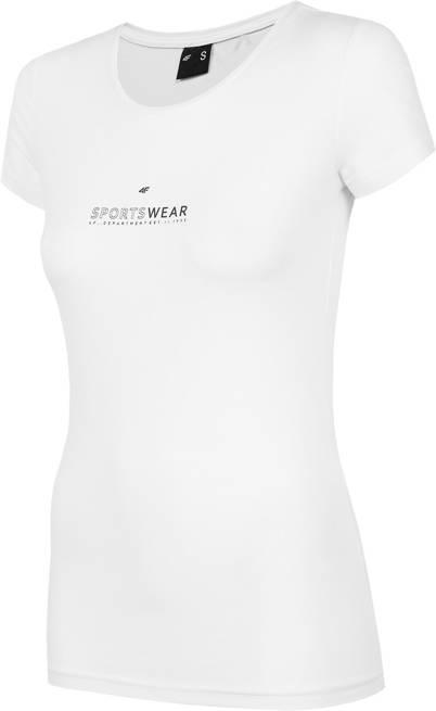 T-shirt damski 4F TSD012 bawełniany biały