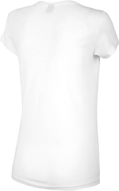 T-shirt damski 4F TSD013 biały bawełniany