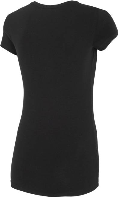 T-shirt damski 4F TSD014 czarny bawełniany